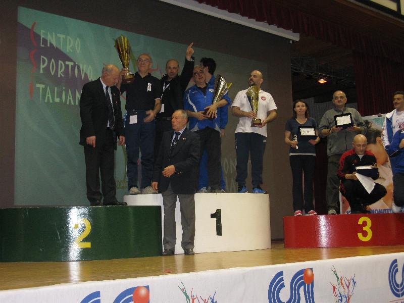 La premiazione della classifica a squadre
