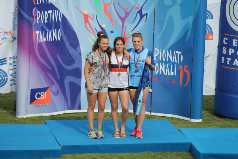 Podio 100mt Senior Valentina