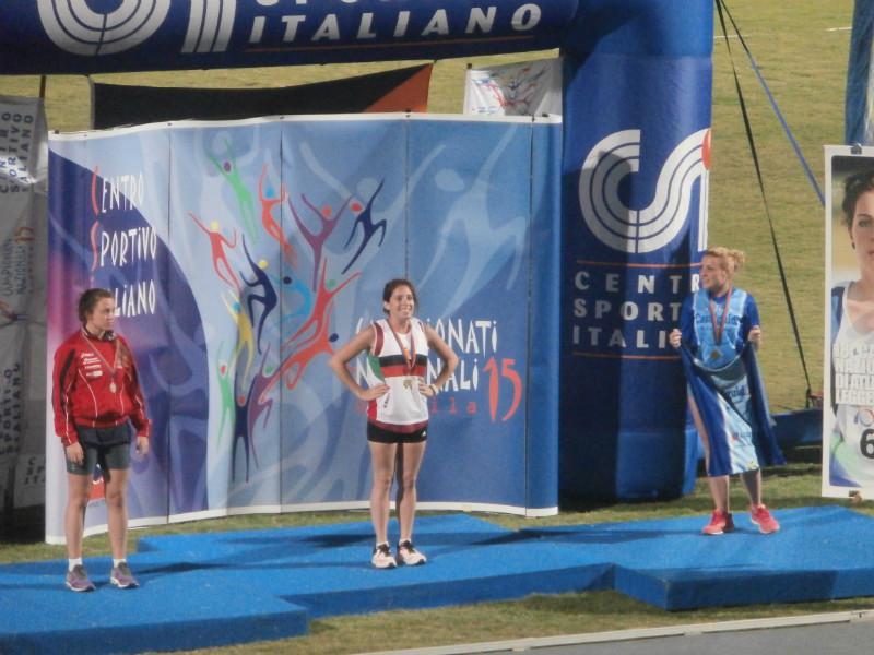 Podio 200mt Senior F  Valentina ORO