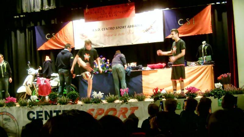 Festa Centro Sport  esibizione giocoleria calcistica