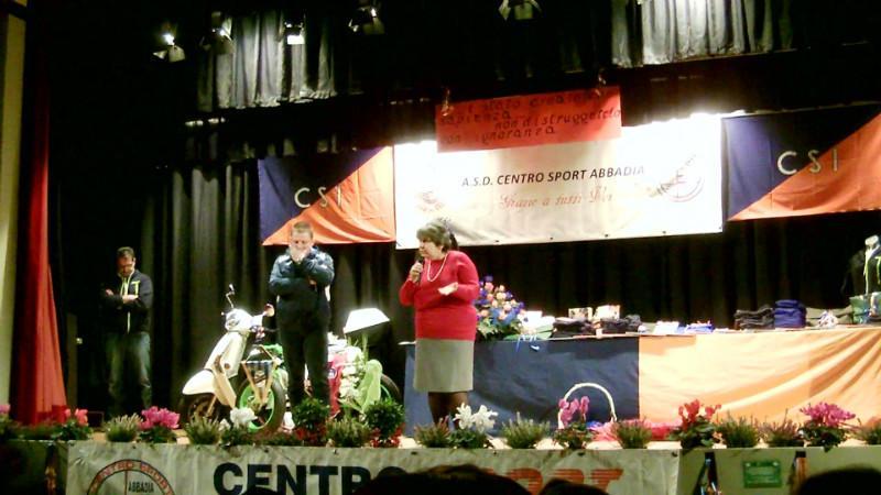 Festa Centro Sport Abbadia  il sindaco